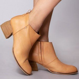 NWT Toms Honey Leather Women's Leilani Booties - Size 7
